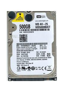 Western Digital WD500BUCT NoteBook Hard Drive 500GB
